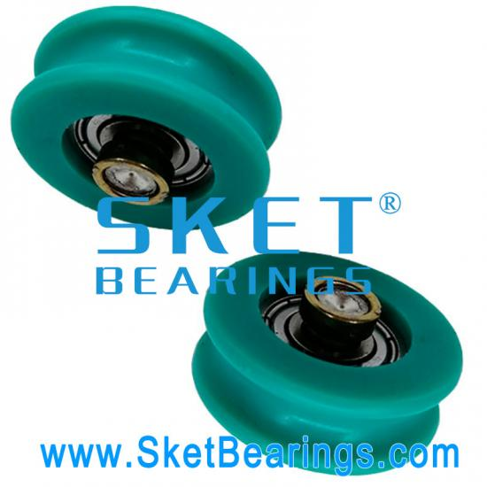 U groove plastic coated bearing pulley manufacturer and supplier in China