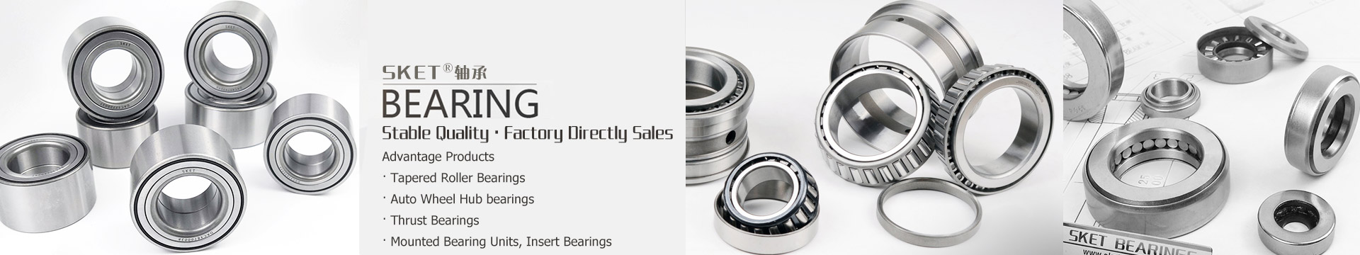Tapered Roller Bearings · Kingpin Thrust Bearing · Pillow Block Bearings Units · Deep Groove Ball Bearings